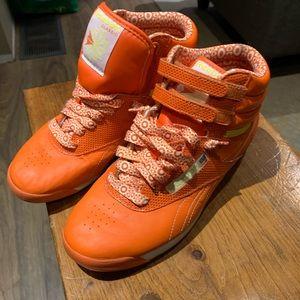 Unique orange Reebok hightop runners